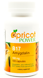 B17 Amygdalin 100mg, 100 Caps by Apricot Power