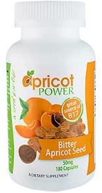 Bitter Apricot Seed 50 mg, 180 Capsules by Apricot Power