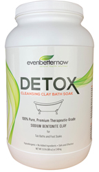 Evenbetternow DETOX Clay Baths, 5.5 lb Jar