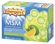 Emergen-C Lite with MSM
