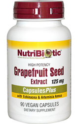 Grapefruit Seed Extract 125mg, 90 Caps by Nutribiotic