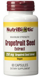 Grapefruit Seed Extract 250mg, 60 Caps by Nutribiotic