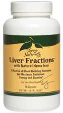 Liver Fractions with Heme Iron - 90 Capsules