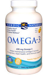 Omega-3 Purified Fish Oil - 120 Softgels