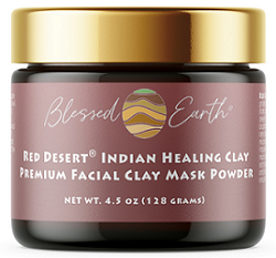 Red Desert Indian Healing Clay Facial Mask Powder, 4.5 oz by Blessed Earth