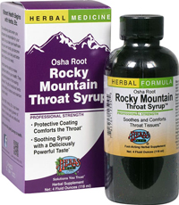 Osha Root Rocky Mountain Throat Syrup by Herbs Etc. - 4oz
