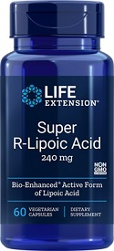 Super R-Lipoic Acid 240 mg, 60 Capsules by Life Extension