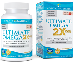 Ultimate Omega 2X Mini 60 count by Nordic Naturals