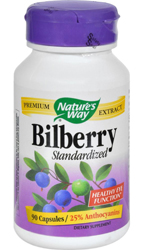 Bilberry Standardized Extract, 90 Caps by Nature's Way