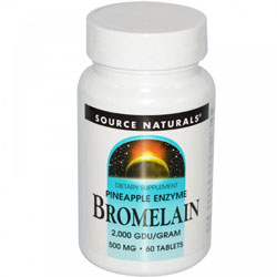 Bromelain 500mg, 60 Tabs by Source Naturals