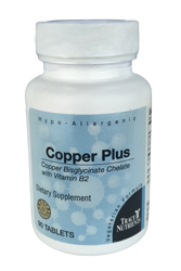 Trace Elements Copper Plus 90 Tabs