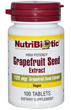 Grapefruit Seed Extract 125mg, 100 Tabs by Nutribiotic
