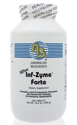 Ultra Inf-Zyme 500 Caps by American Biologics