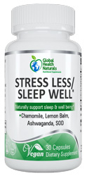 Stress Less Sleep Well 30 Capsules by Global Health Naturals