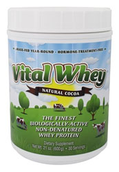 Vital Whey Natural Cocoa - 600 gm by Well Wisdom